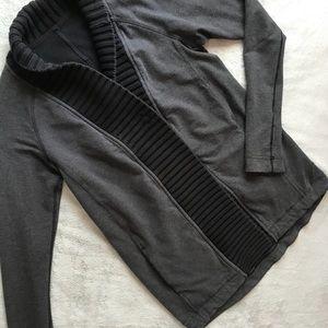 Lululemon Bliss Break Wrap Sweater Black Gray